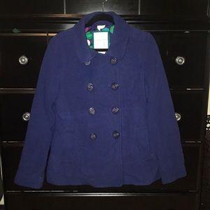 New Blue wool peacoat